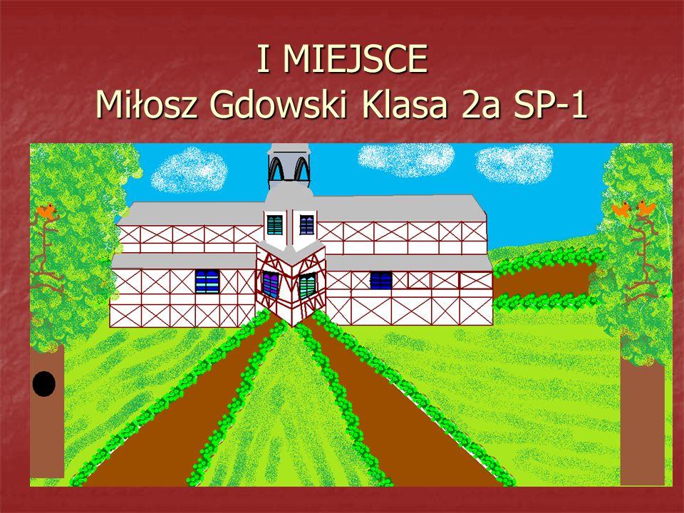 I MIEJSCE Miłosz Gdowski Klasa 2a SP-1