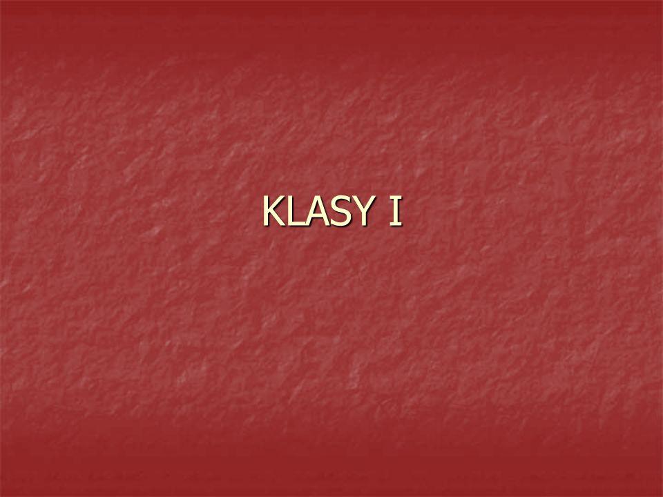 KLASY I