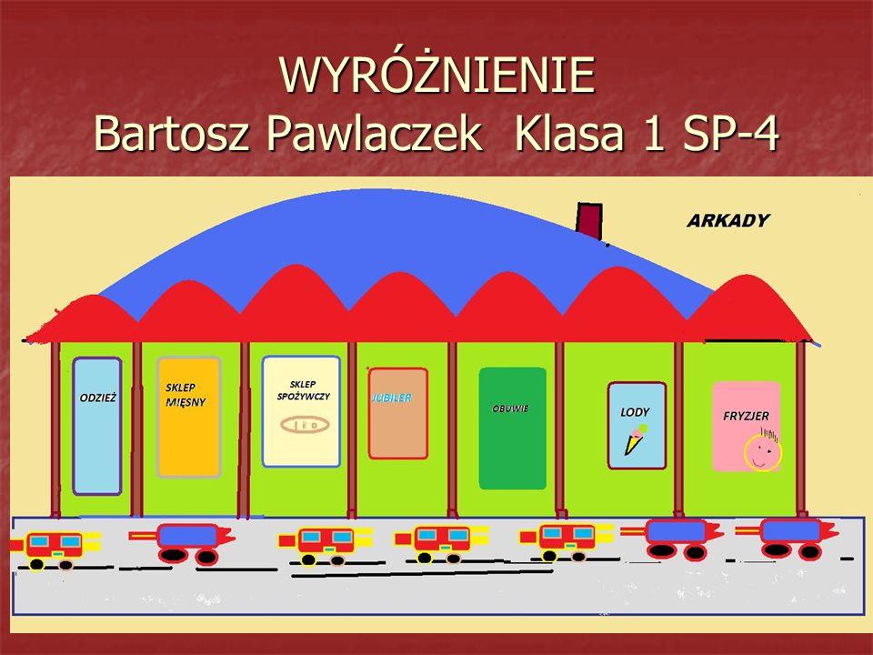 WYRÓŻNIENIE Bartosz Pawlaczek Klasa 1 SP-4