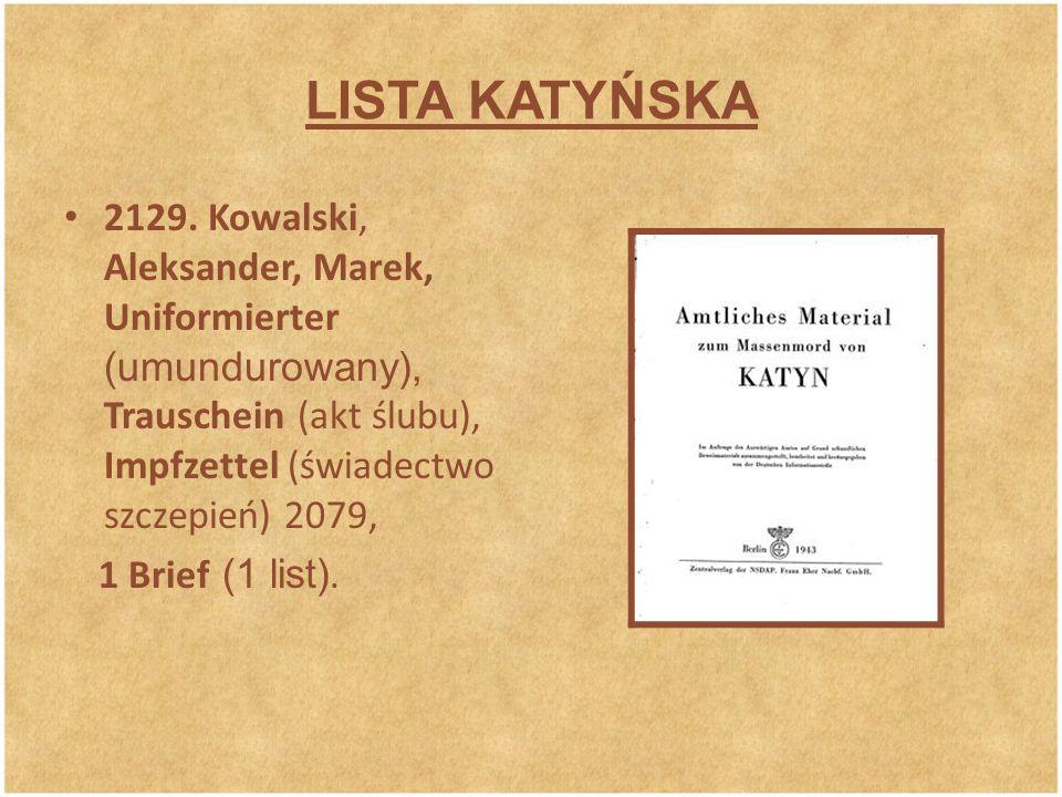 LISTA KATYŃSKA 2129.