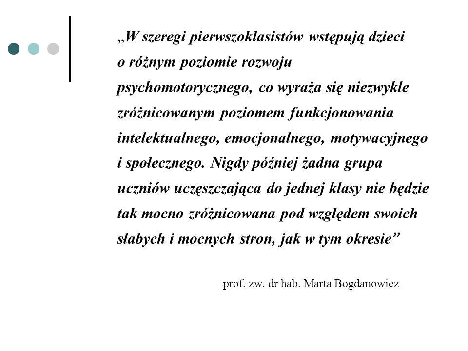 Funkcje percepcyjno- motoryczne u dziecka 6- letniego Sprawność manualna (m.in.