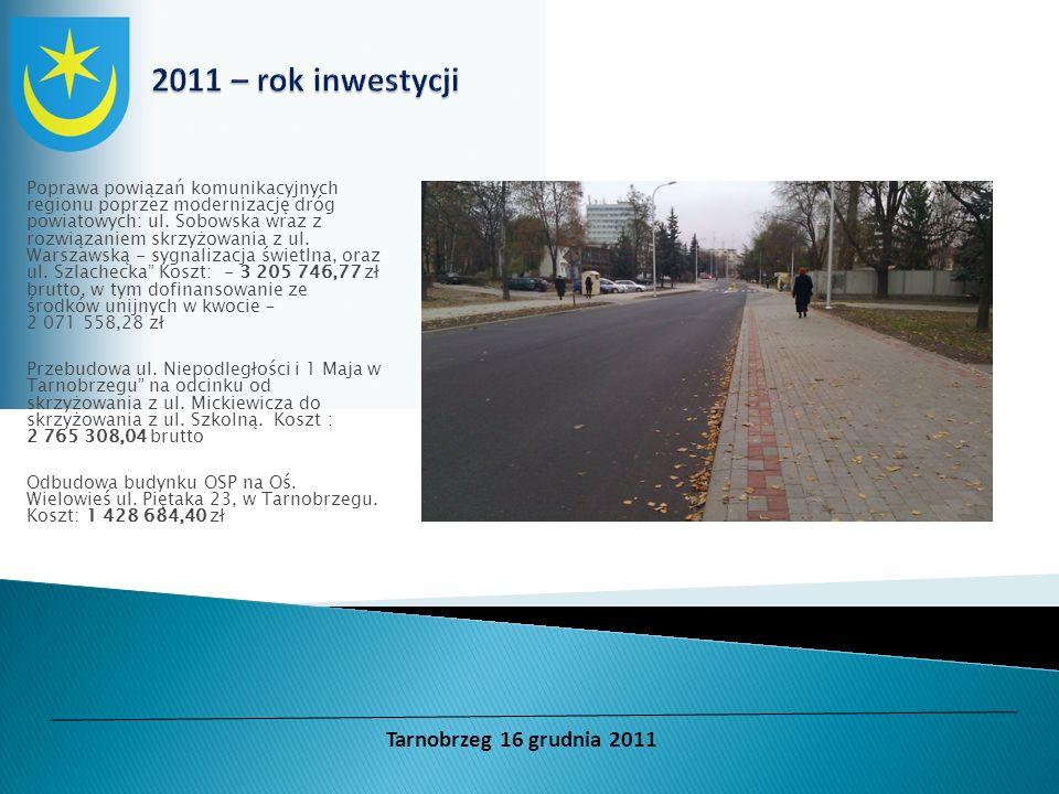 Poprawa powiązań komunikacyjnych regionu poprzez modernizację dróg powiatowych: ul. Sobowska wraz z rozwiązaniem skrzyżowania z ul. Warszawską - sygna