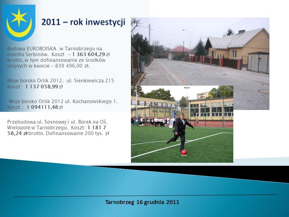 Budowa EUROBOISKA w Tarnobrzegu na osiedlu Serbinów. Koszt - 1 363 604,29 zł brutto, w tym dofinansowanie ze środków unijnych w kwocie – 839 496,00 zł