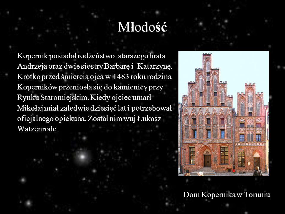 Młodość Kopernik posiadał rodzeństwo: starszego brata Andrzeja oraz dwie siostry Barbarę i Katarzynę. Krótko przed śmiercią ojca w 1483 roku rodzina K