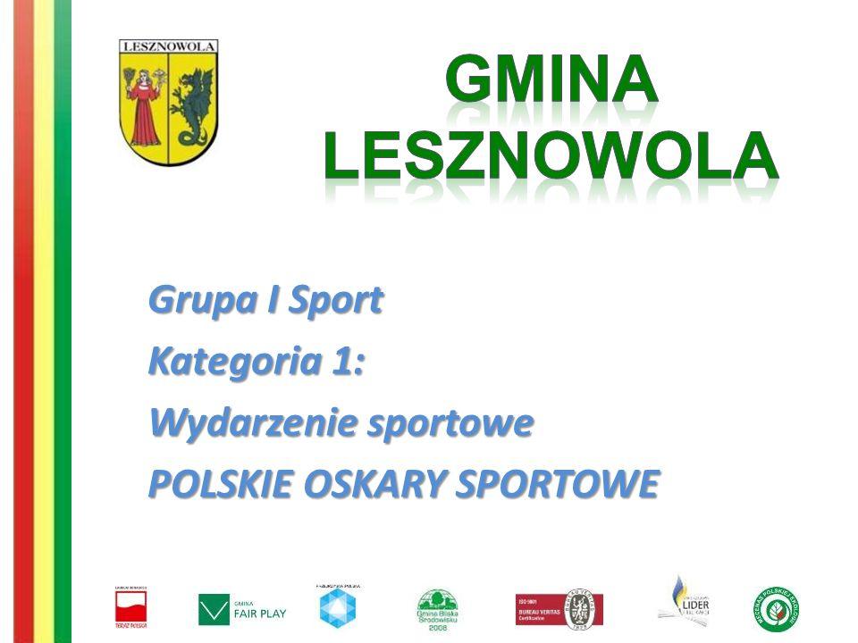 Grupa I Sport Kategoria 1: Wydarzenie sportowe POLSKIE OSKARY SPORTOWE