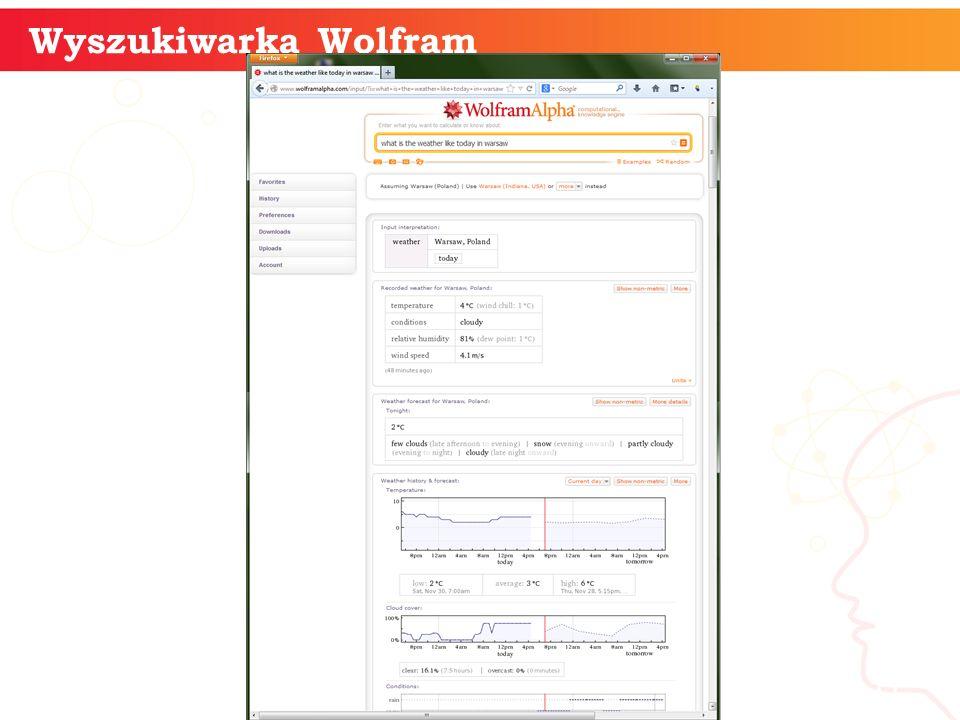 Wyszukiwarka Wolfram informatyka + 11