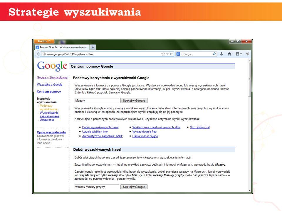 Strategie wyszukiwania informatyka + 4