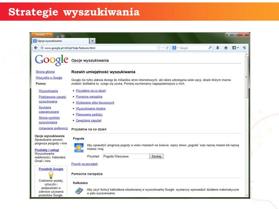 Strategie wyszukiwania informatyka + 5