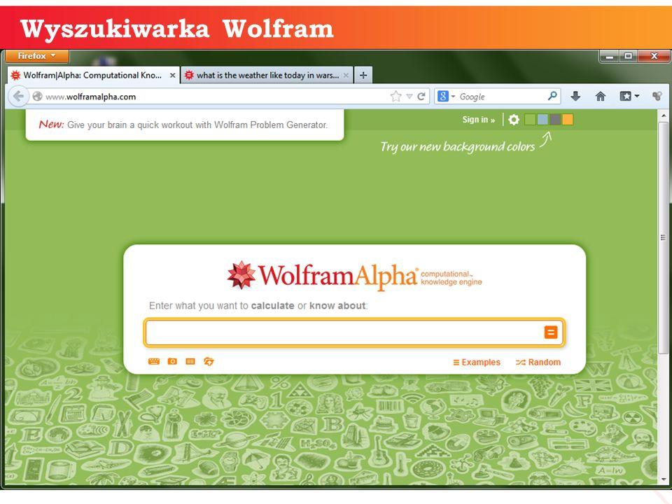 Wyszukiwarka Wolfram informatyka + 9