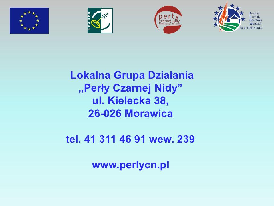 Lokalna Grupa Działania Perły Czarnej Nidy ul. Kielecka 38, 26-026 Morawica tel. 41 311 46 91 wew. 239 www.perlycn.pl