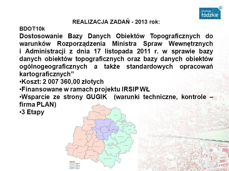 Mapy tematyczne – wektorowa mapa glebowo-rolnicza w skali 1:5000 Obszar powiatów: poddębickiego, tomaszowskiego, piotrkowskiego, opoczyńskiego