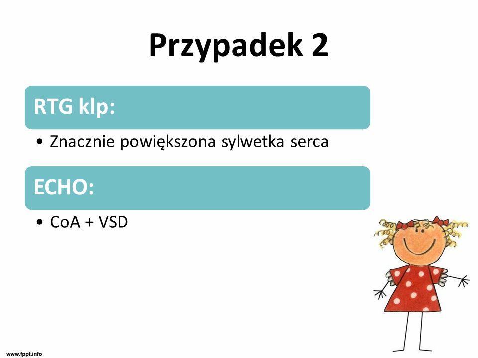Przypadek 2 Leczenie: Wlew z prostaglandyn, katecholaminy !!.