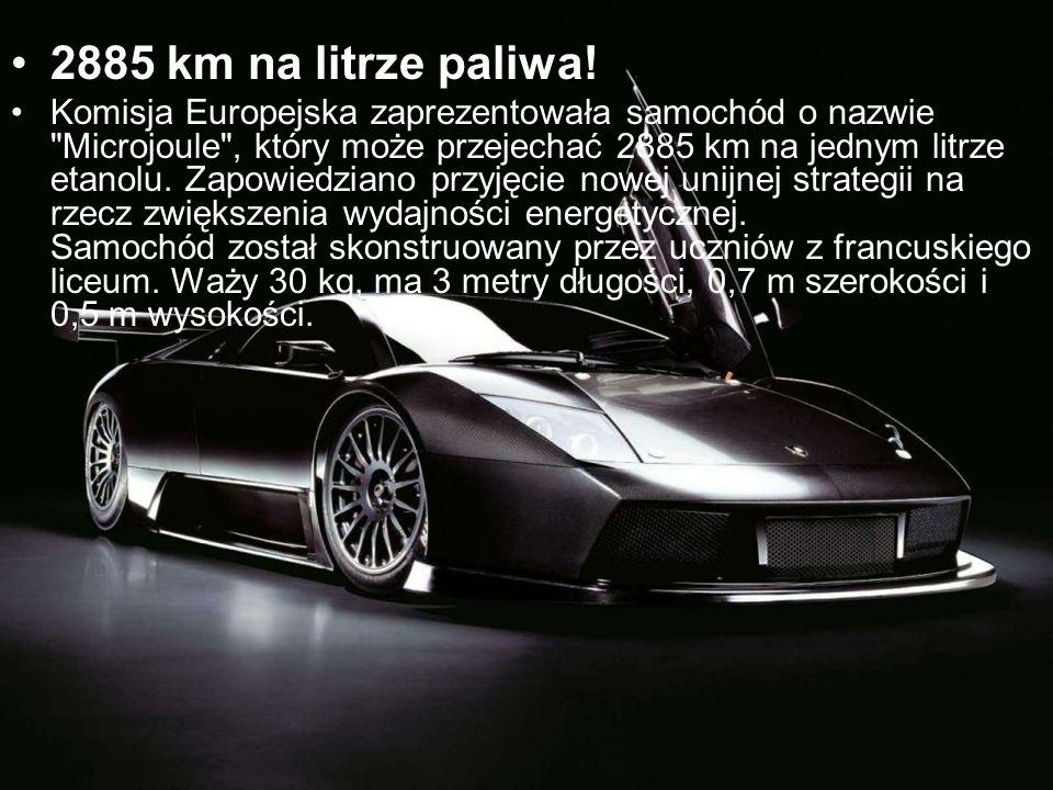 2885 km na litrze paliwa! Komisja Europejska zaprezentowała samochód o nazwie
