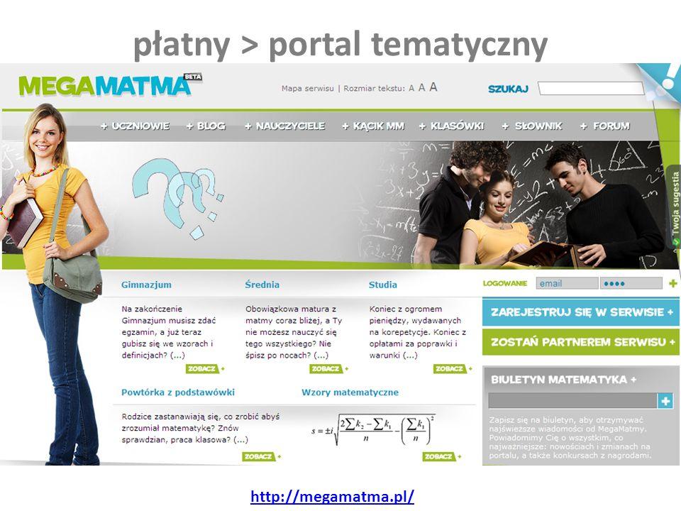 płatny > portal tematyczny http://megamatma.pl/