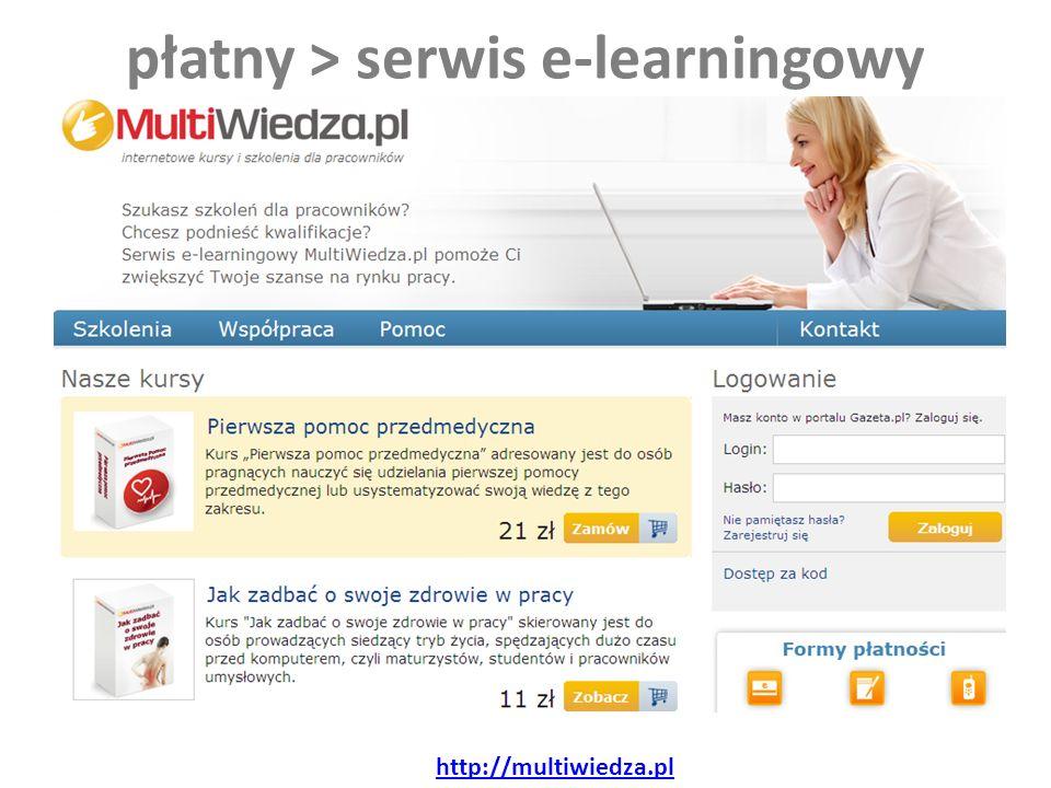płatny > serwis e-learningowy http://multiwiedza.pl