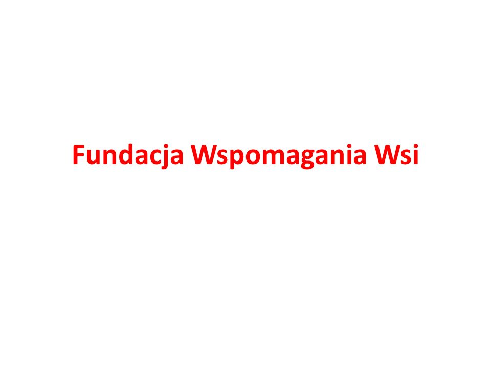Fundacja Wspomagania Wsi