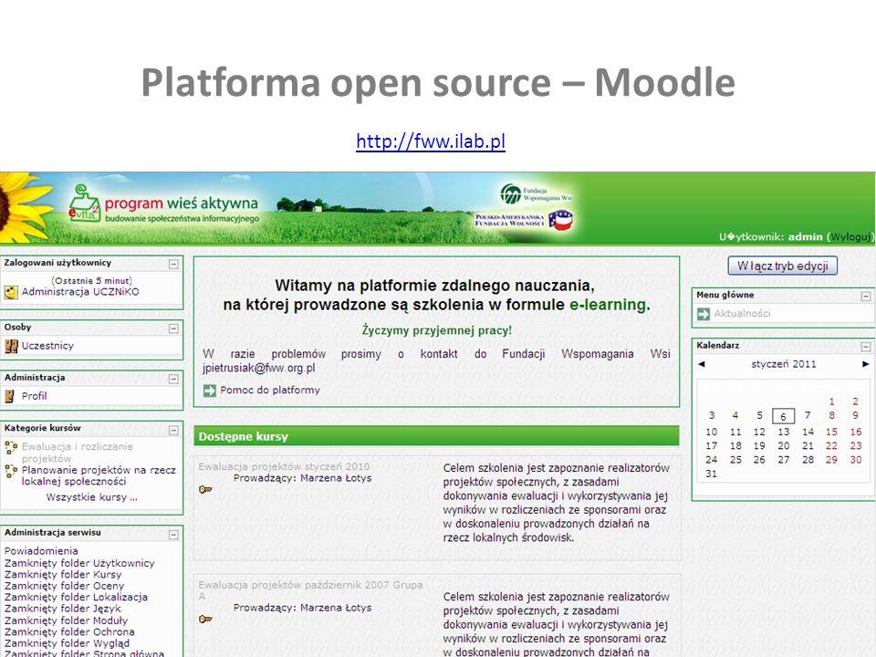 22 Platforma open source – Moodle http://fww.ilab.pl
