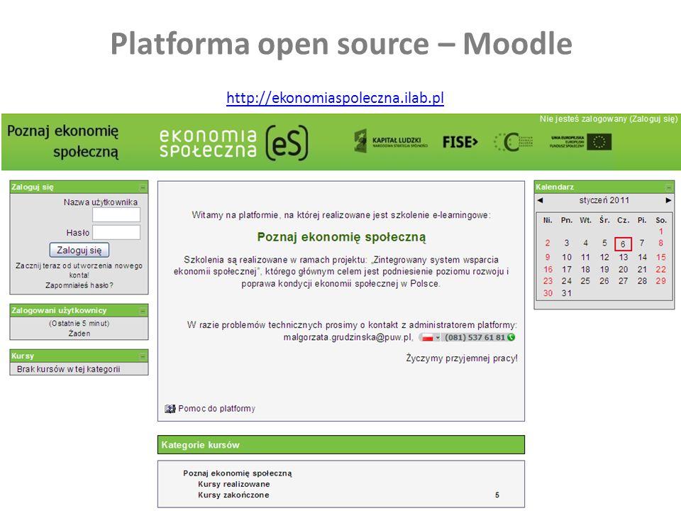 26 Platforma open source – Moodle http://ekonomiaspoleczna.ilab.pl