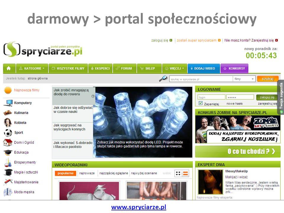 darmowy > portal społecznościowy www.spryciarze.pl