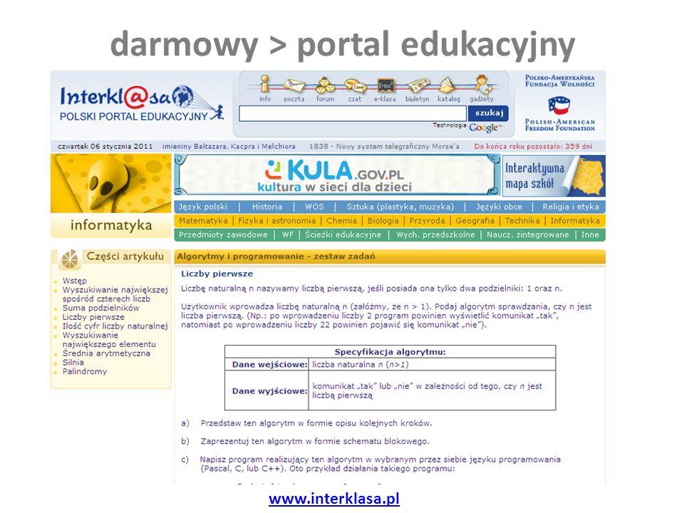 darmowy > portal edukacyjny www.interklasa.pl