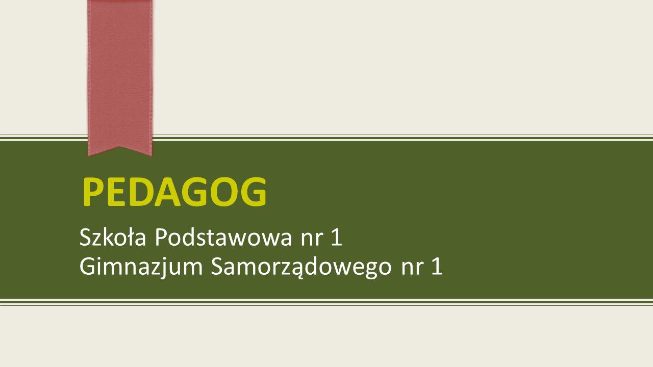 PEDAGOG Szkoła Podstawowa nr 1 Gimnazjum Samorządowego nr 1