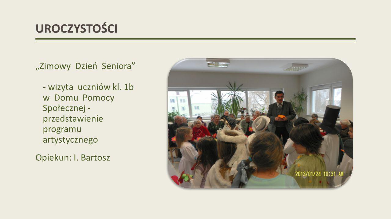UROCZYSTOŚCI Zimowy Dzień Seniora - wizyta uczniów kl.