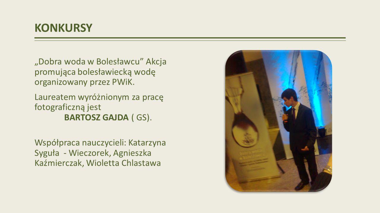 KONKURSY Dobra woda w Bolesławcu Akcja promująca bolesławiecką wodę organizowany przez PWiK.