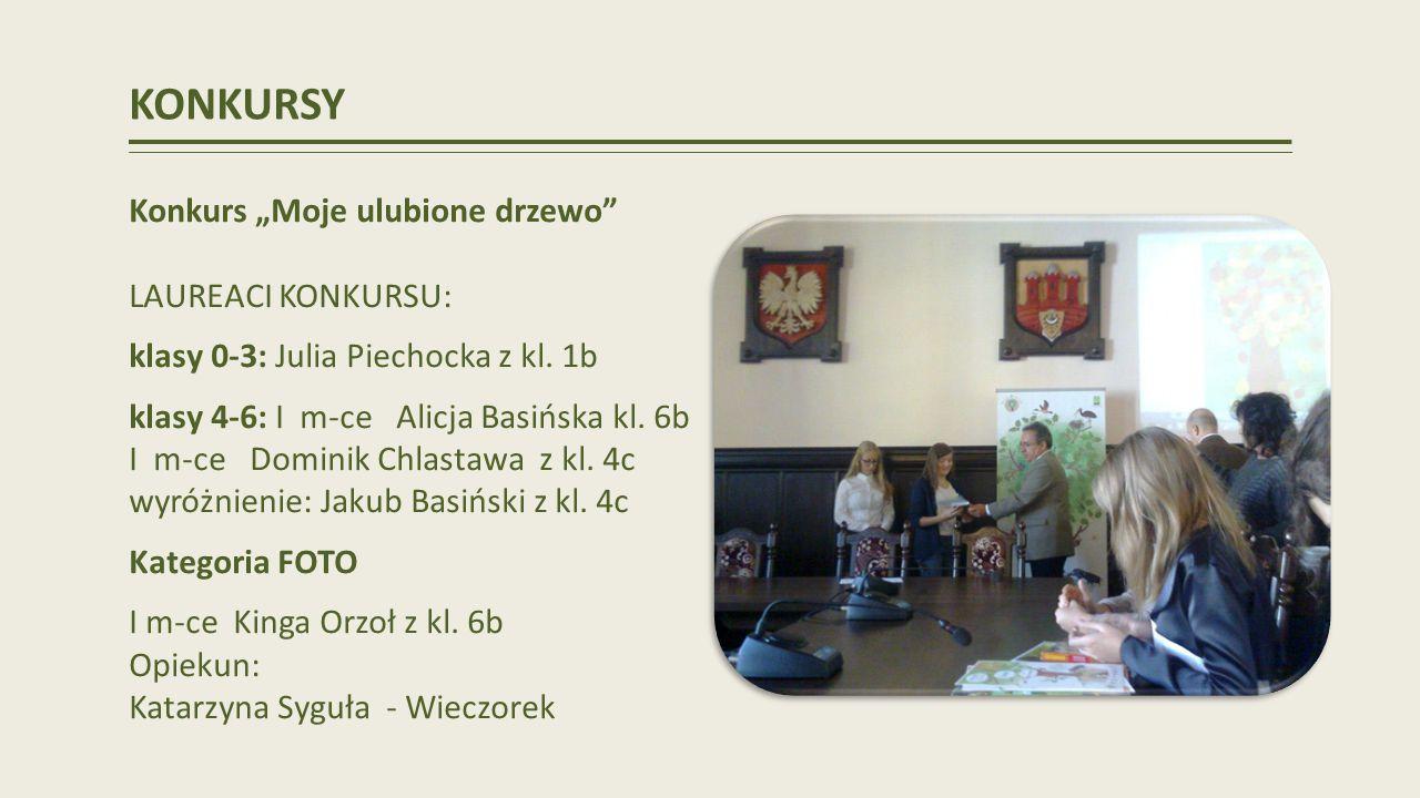 KONKURSY Konkurs Moje ulubione drzewo LAUREACI KONKURSU: klasy 0-3: Julia Piechocka z kl.