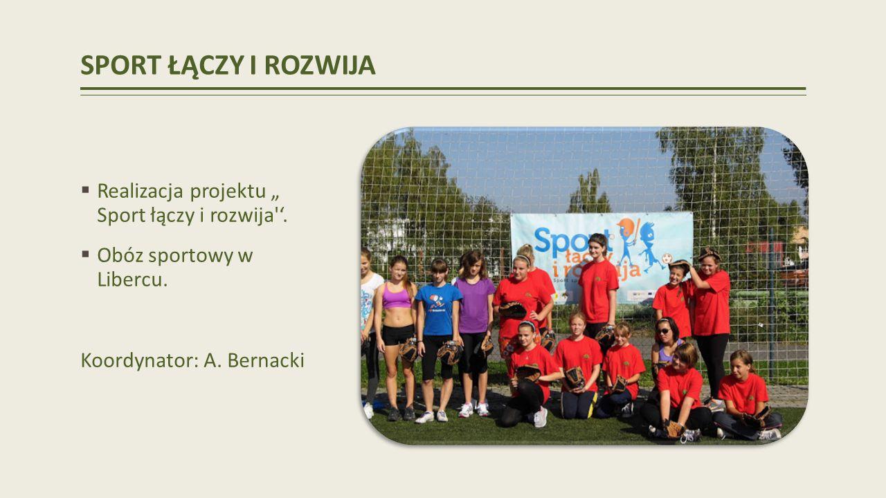 SPORT ŁĄCZY I ROZWIJA Realizacja projektu Sport łączy i rozwija .