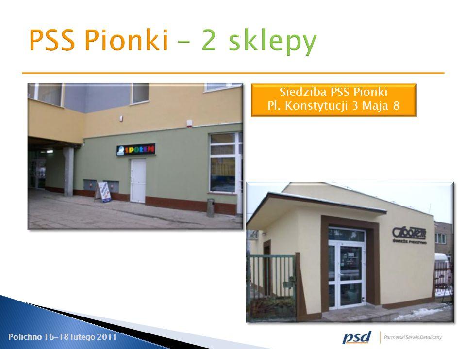 Polichno 16-18 lutego 2011 Siedziba PSS Pionki Pl. Konstytucji 3 Maja 8
