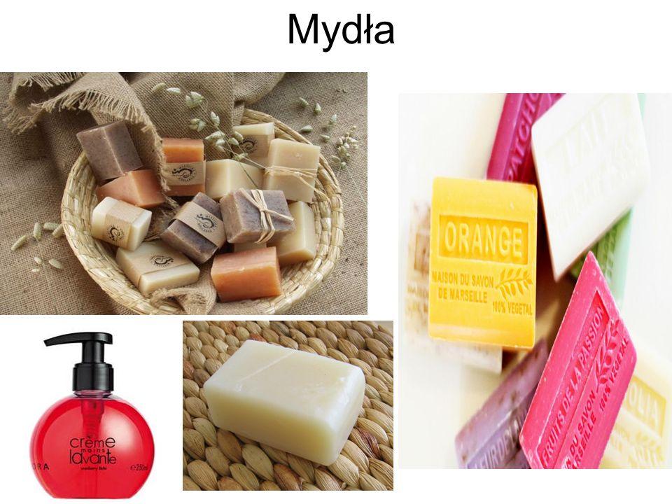 Mydła, środki czystości, kosmetyki oraz preparaty kosmetyczne.
