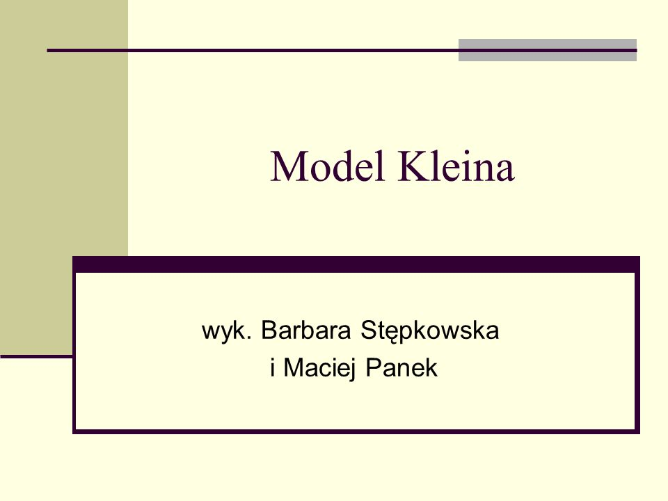 Model Kleina wyk. Barbara Stępkowska i Maciej Panek