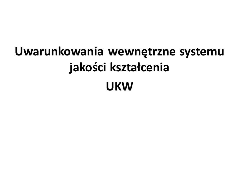 Uwarunkowania wewnętrzne systemu jakości kształcenia UKW