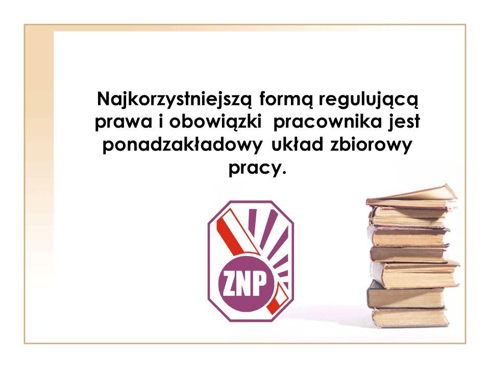 Najkorzystniejszą formą regulującą prawa i obowiązki pracownika jest ponadzakładowy układ zbiorowy pracy.