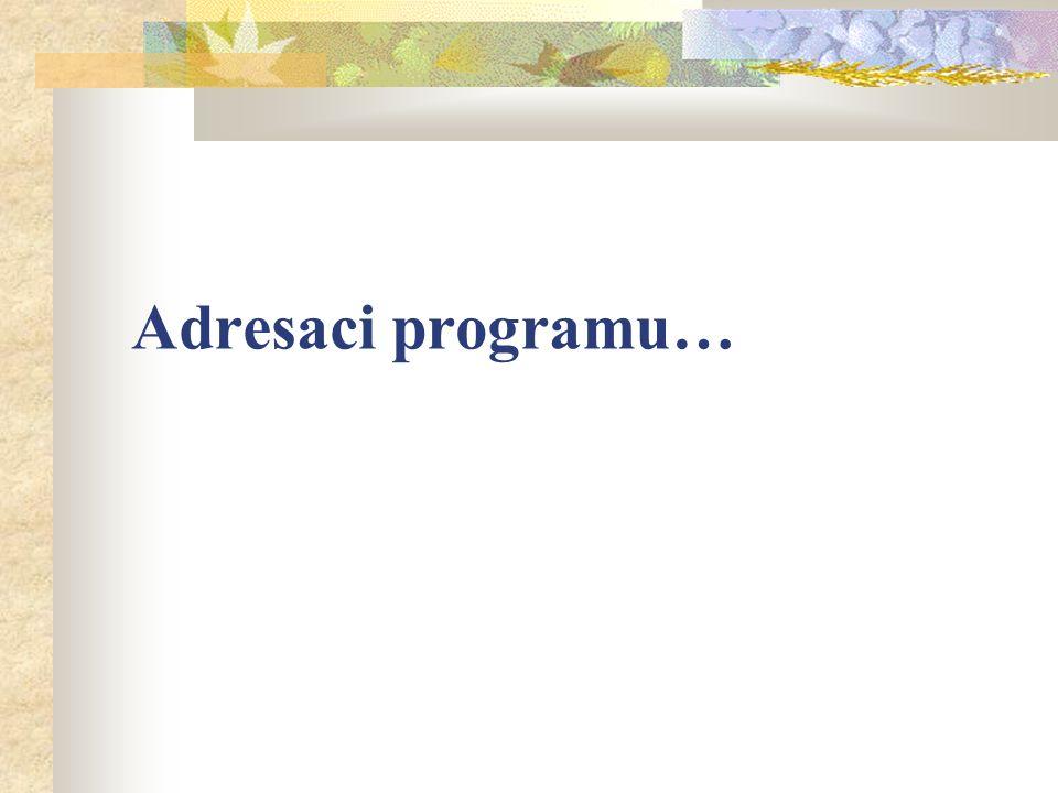 Adresaci programu…