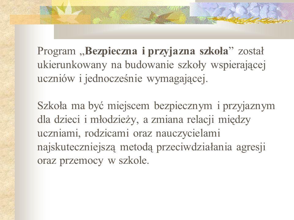 III.1.Przyjaźnie wspierający program wychowawczy szkoły.