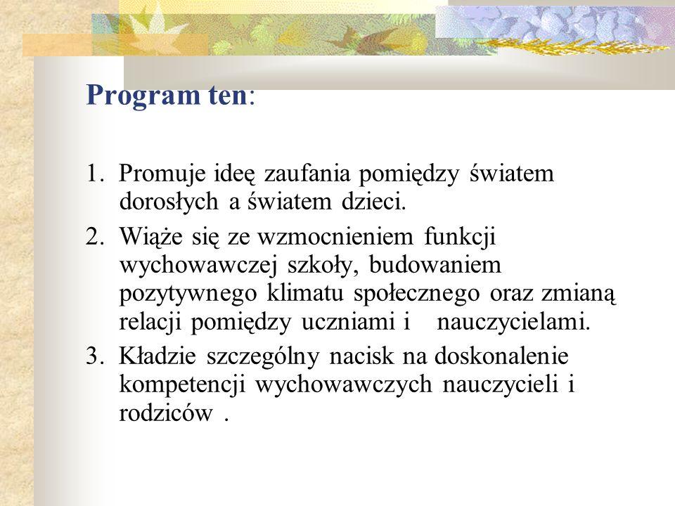 Zadania szkoły wynikające z programu Bezpieczna i przyjazna szkoła - propozycje 1.