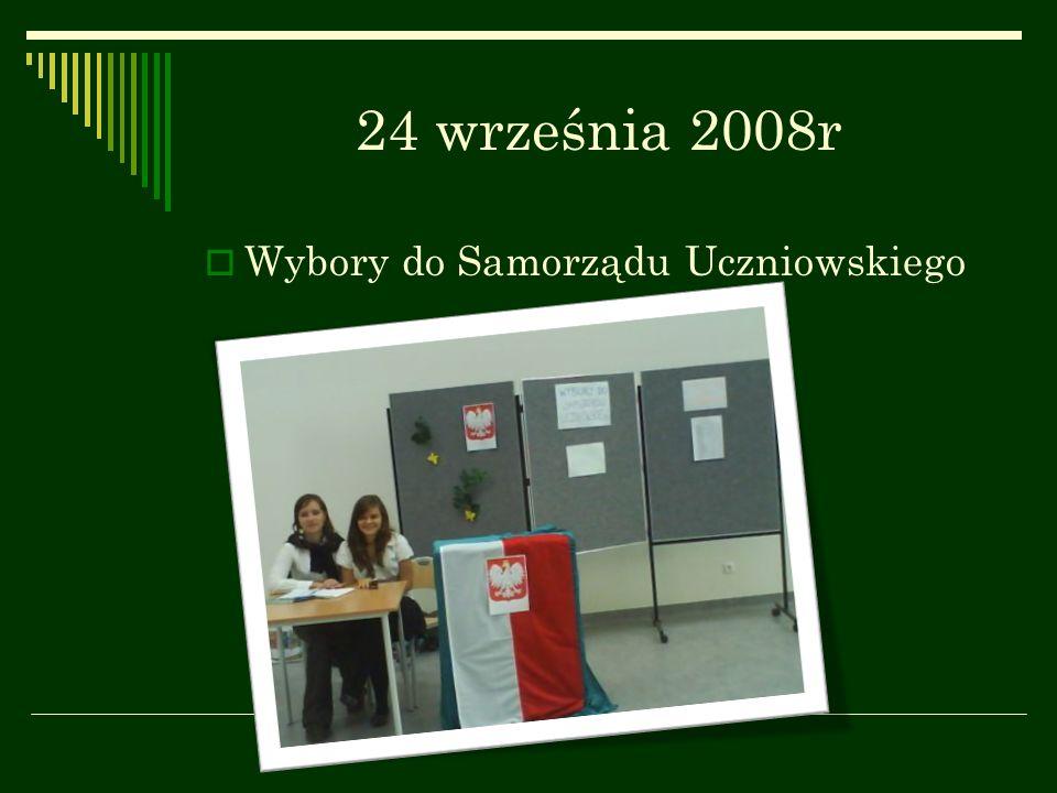 24 września 2008r Wybory do Samorządu Uczniowskiego