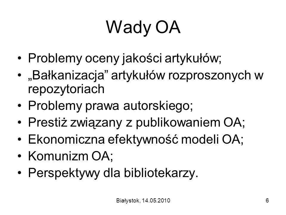 Białystok, 14.05.201017 Prawo autorskie c.d.