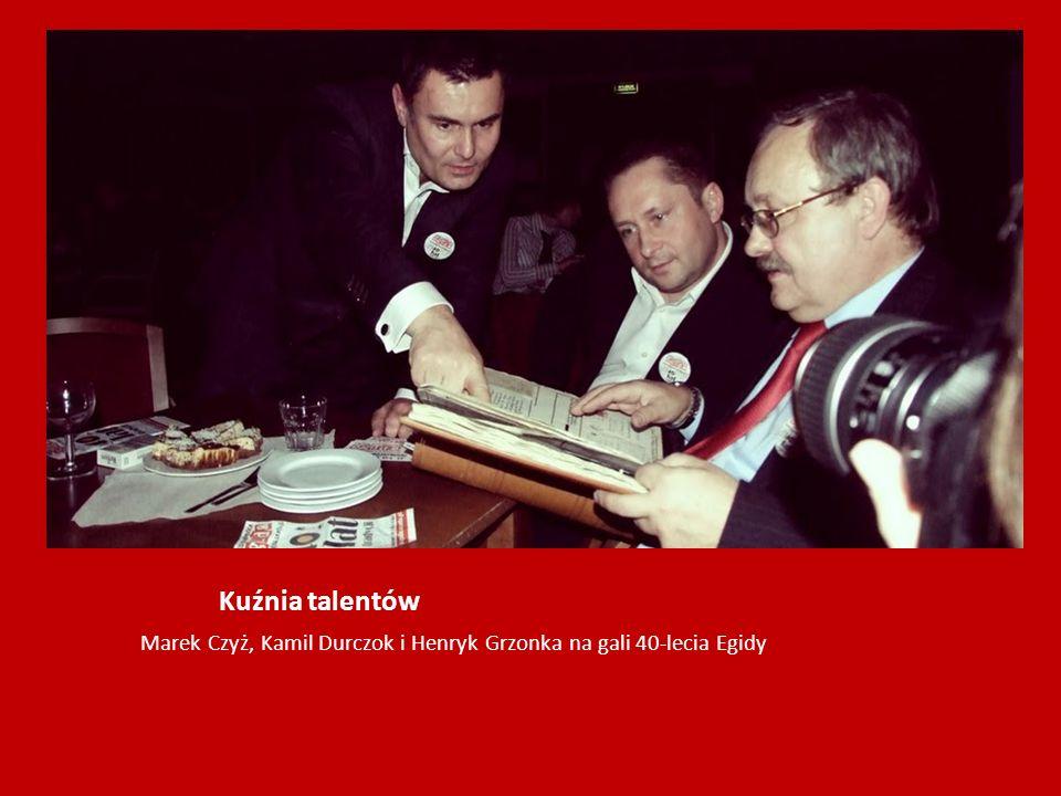Kuźnia talentów Marek Czyż, Kamil Durczok i Henryk Grzonka na gali 40-lecia Egidy