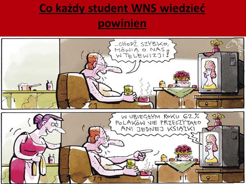 Co każdy student WNS wiedzieć powinien