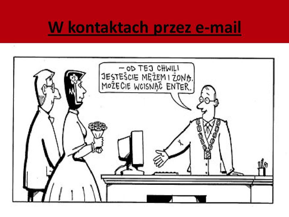 W kontaktach przez e-mail