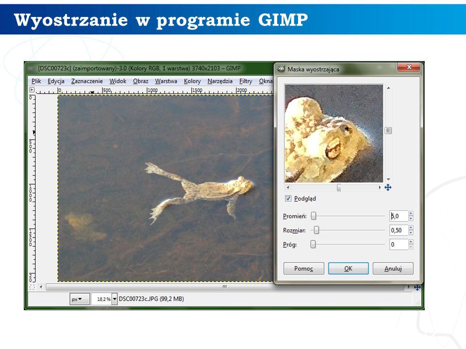12 Wyostrzanie w programie GIMP