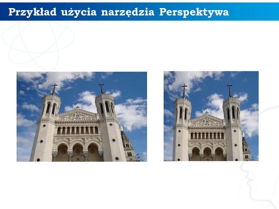 16 Przykład użycia narzędzia Perspektywa