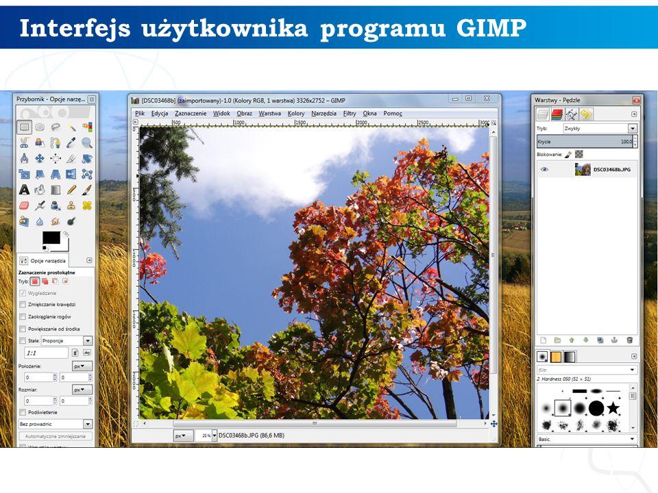 8 Narzędzia zaznaczania w programie GIMP