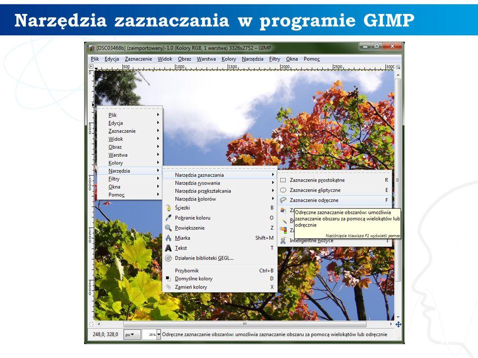 9 Przykład użycia warstw w programie GIMP