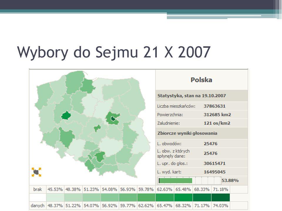 Wybory do Sejmu 21 X 2007