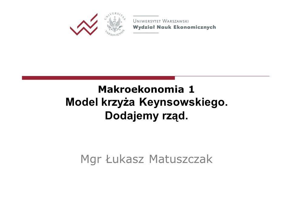Model krzyża Keynsowskiego.Dodajemy rząd.