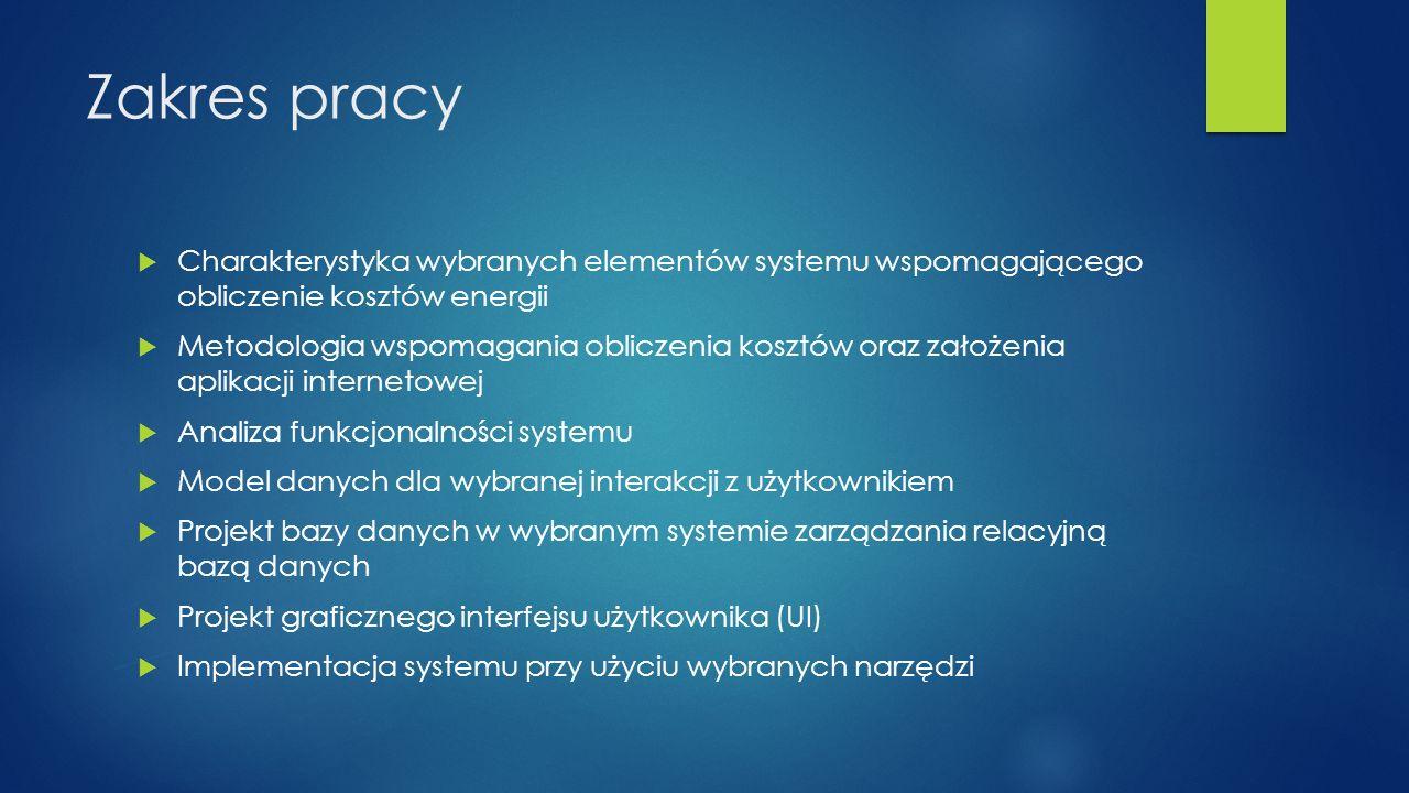 Cele systemu