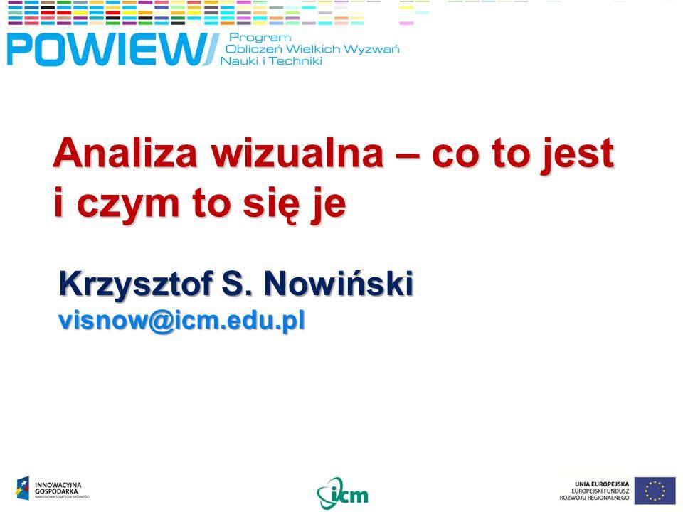 Analiza wizualna – co to jest i czym to się je Krzysztof S. Nowiński visnow@icm.edu.pl